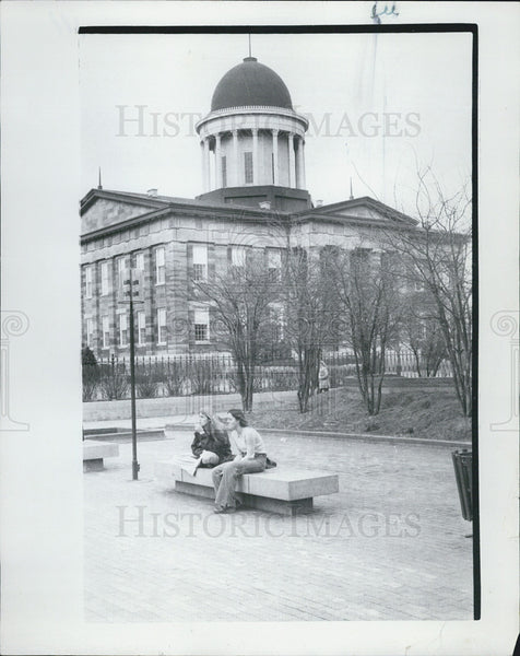 1977 Press Photo Old Capitol Springfield Illinois - Historic Images