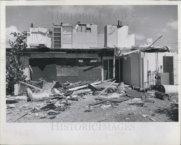 1966 Press Photo William Billings' Home Demolished By Hurricane - Historic Images