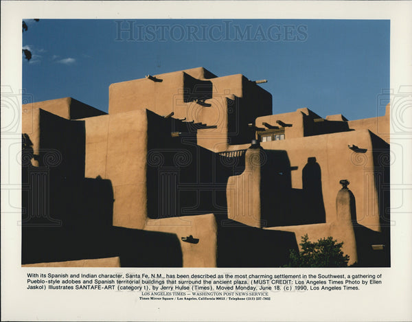 1990 Press Photo Santa Fe, New Mexico - Historic Images