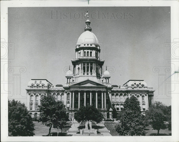 1967 Press Photo Illinois Capital Building Springfield - Historic Images