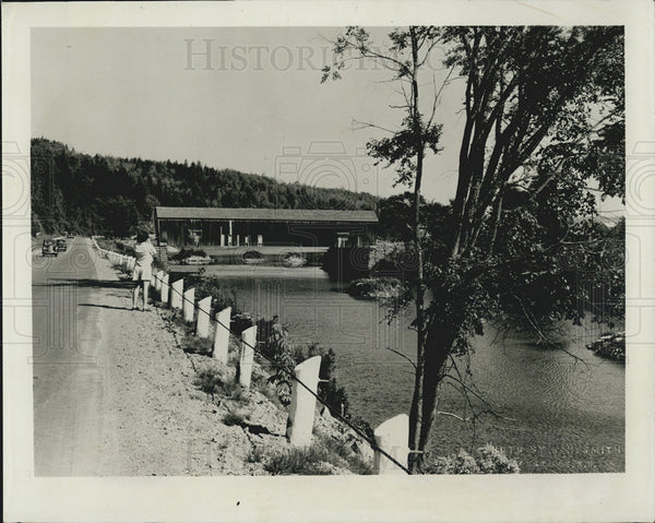 1922 Press Photo New Brunswick, Canada. covered bridges at Nashawak River. - Historic Images