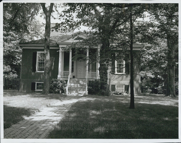 1966 Press Photo Home Designed by Thomas Jefferson for Speed Family Louisville - Historic Images
