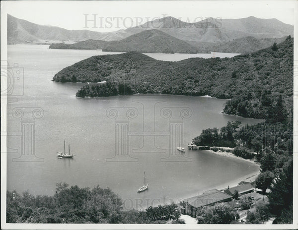 1968 Press Photo delightful bay scenic Marlborough Sounds New Zealand - Historic Images