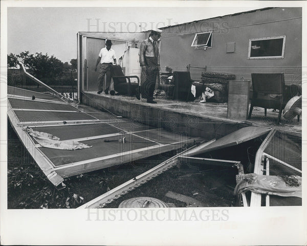 1966 Press Photo Tornado Destroyed Cabana Mobile Home Lloyd Kyle Pinellas County - Historic Images
