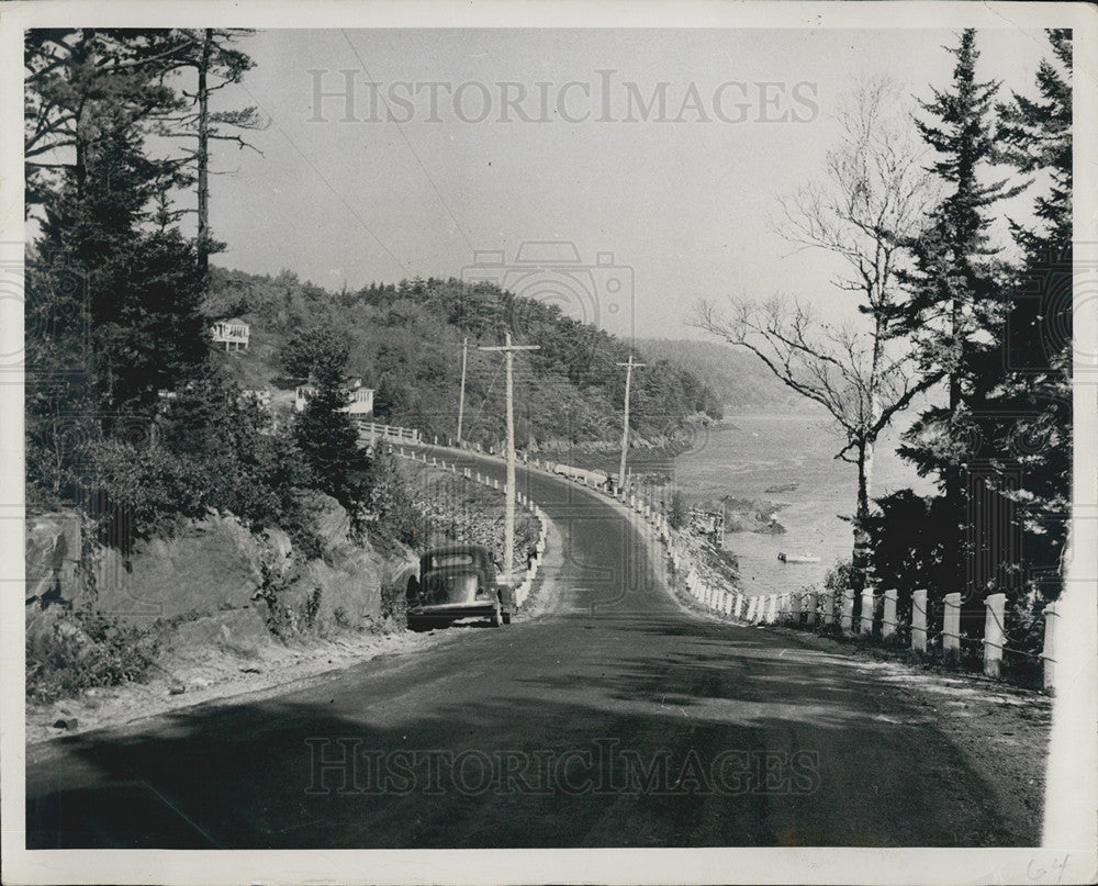Press Photo Casco Road/Maine - Historic Images
