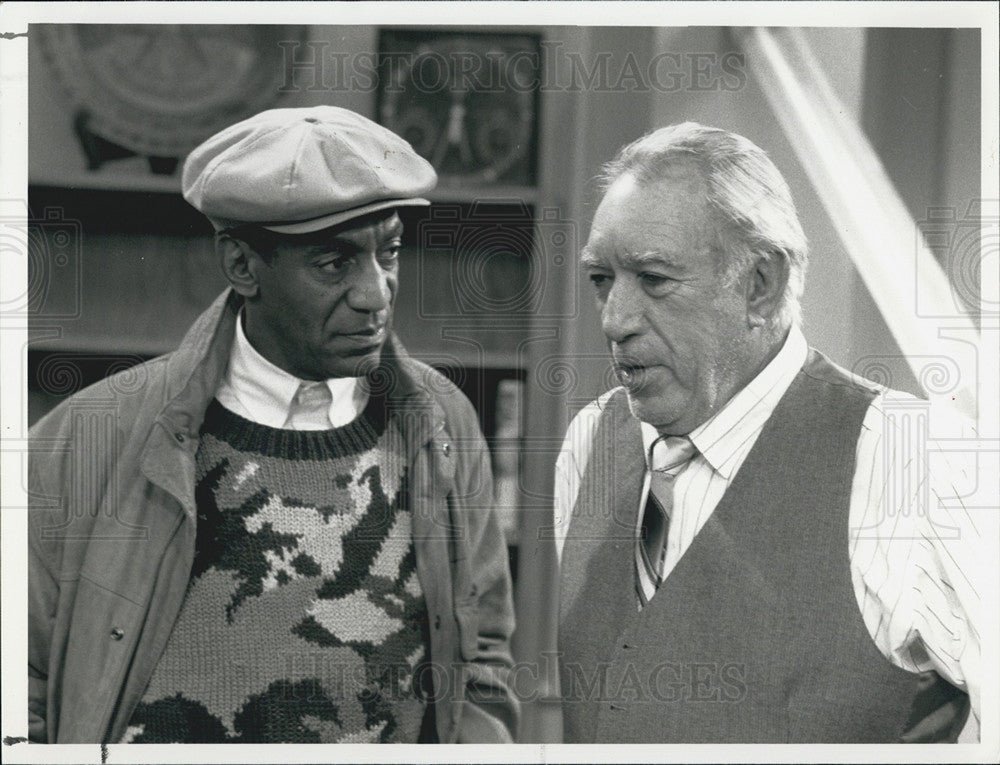 1989 Press Photo Bill Cosby/Actor Comedian/Anthony Quinn/Painter/Writer - Historic Images