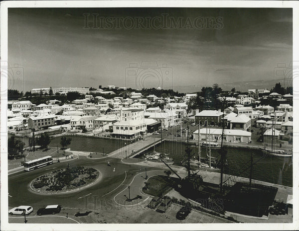 1983 Press Photo King's Square St. George's Bermuda Capital - Historic Images