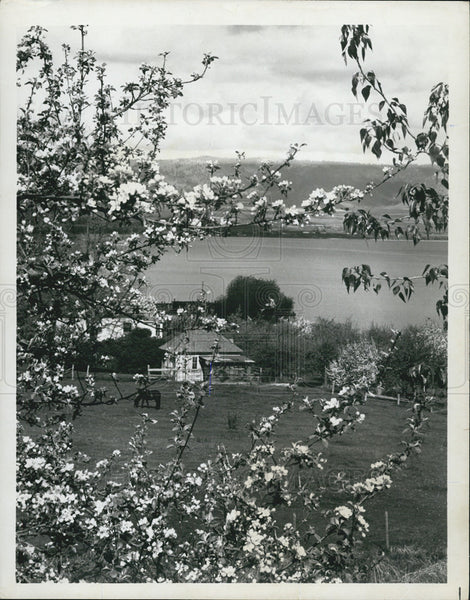 1975 Press Photo Montana Flathead Lake - Historic Images