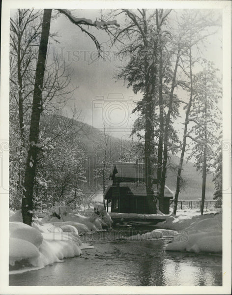 Press Photo Picturesque Montana dude ranch - Historic Images