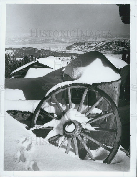 1991 Press Photo Scenic Beauty of Snow in Montana - Historic Images