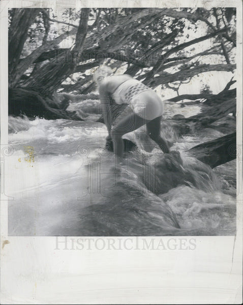 1962 Press Photo Dunn's River Falls/Jamaica/Elaine DuGoff - Historic Images