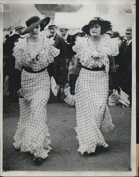 1934 Press Photo Ascot Races England/Womens Dresses/Fashion - Historic Images