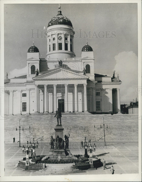 1938 Press Photo Church Suurkirkko Helsinki Cathedral - Historic Images