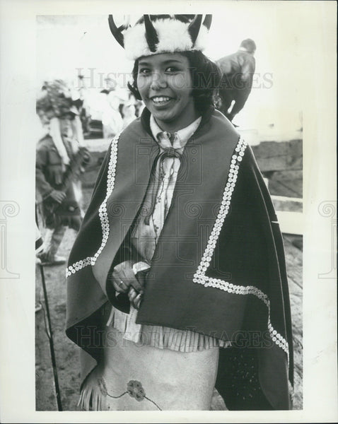Press Photo Saxman Indian Girl is a member of a native group that dances - Historic Images