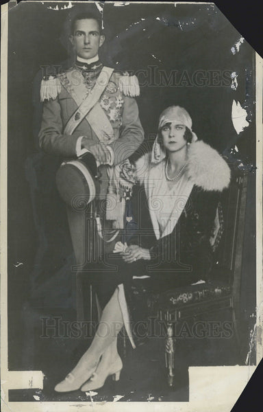 1929 Press Photo Wedding of Princess Marie Jose & Crown Prince Humberto - Historic Images