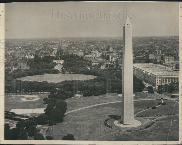 Press Photo Washington Monument in D.C. - Historic Images