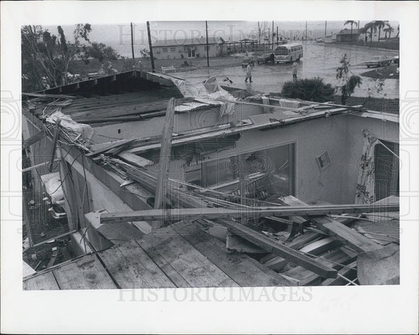 1966 Press Photo Tornado Damage in Pinellas Point - Historic Images