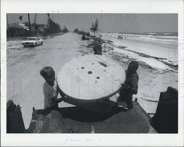 1972 Press Photo Damage from Hurricane Agnes - Historic Images