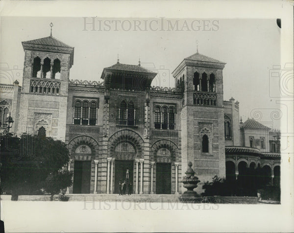 1929 Press Photo Spanish Pavilion at Ibero-American Exposition - Historic Images