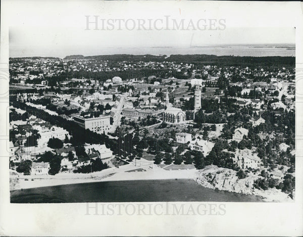 1941 Press Photo Aerial view of the City of Hangoe Finland - Historic Images