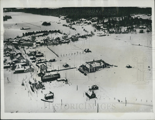 1932 Press Photo Aerial view of Ikhala in Mantsala, Finland - Historic Images