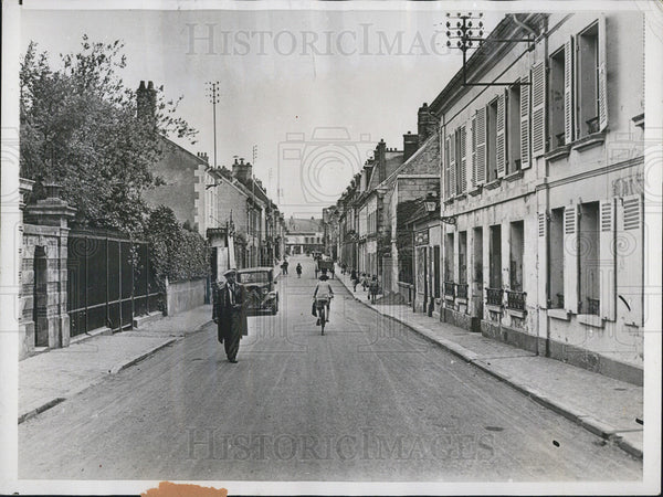 1937 Press Photo Villers-Cotterets street World War scenes - Historic Images