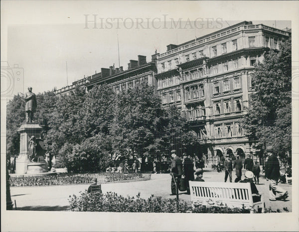 1939 Press Photo Esplanade Park in Helsinki Finland - Historic Images
