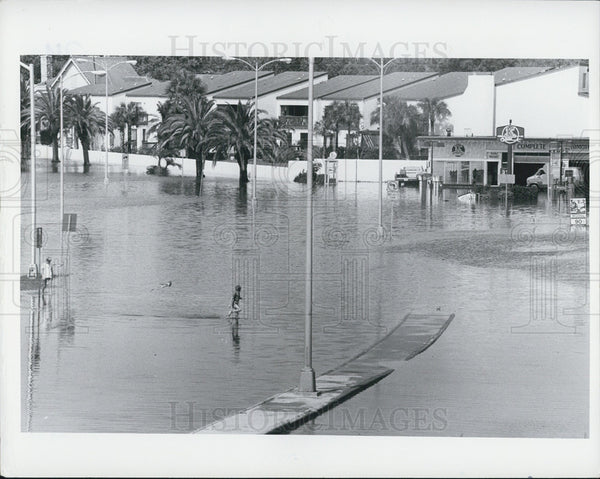 1982 Press Photo flooding St. Petersburg - Historic Images