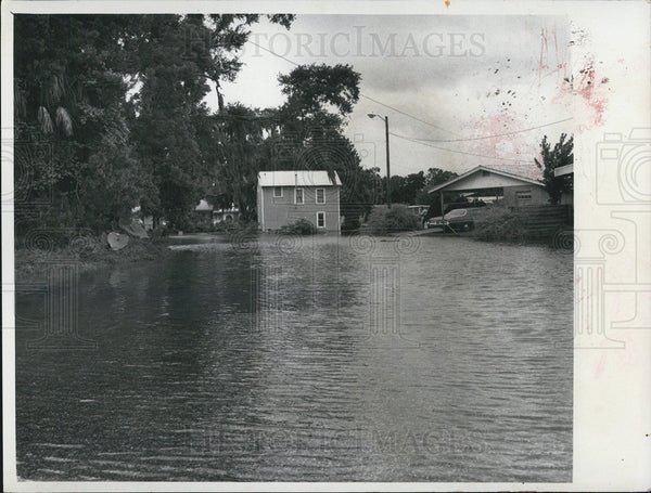 1972 Press Photo Crystal River High Water, Flood