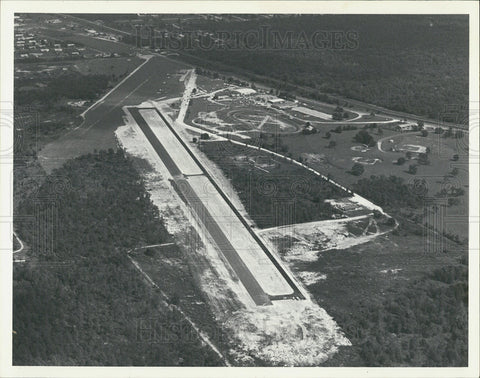 1979 Press Photo Aerial View Of The Inverness Airport
