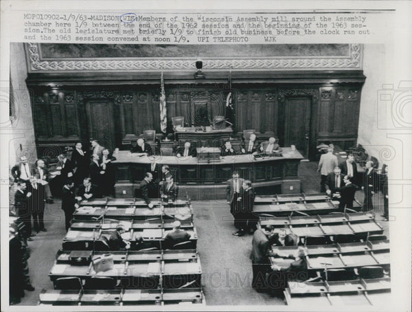 1963 Press Photo Wisconsin Assembly In Chamber During Session - Historic Images