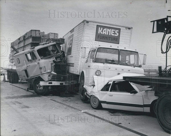 1980 Press Photo accident at the Skyway bridge - Historic Images