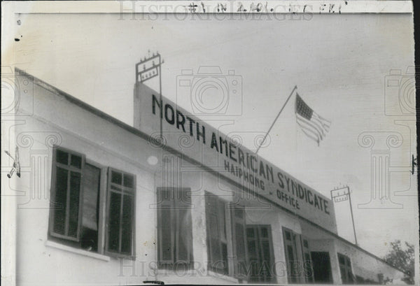 1940 Press Photo North American Syndicate Offices, Haiphong, Indo China - Historic Images