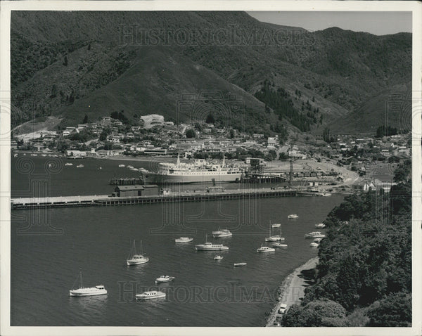 1968 Press Photo One of the gateways to the Marlborough Sounds New Zealand - Historic Images