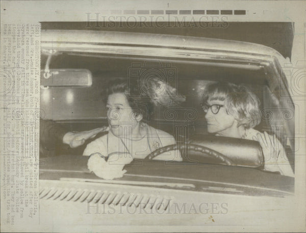 1970 Press Photo Norena Dellario Louis Honour Rescued Kidnapping Escaped - Historic Images