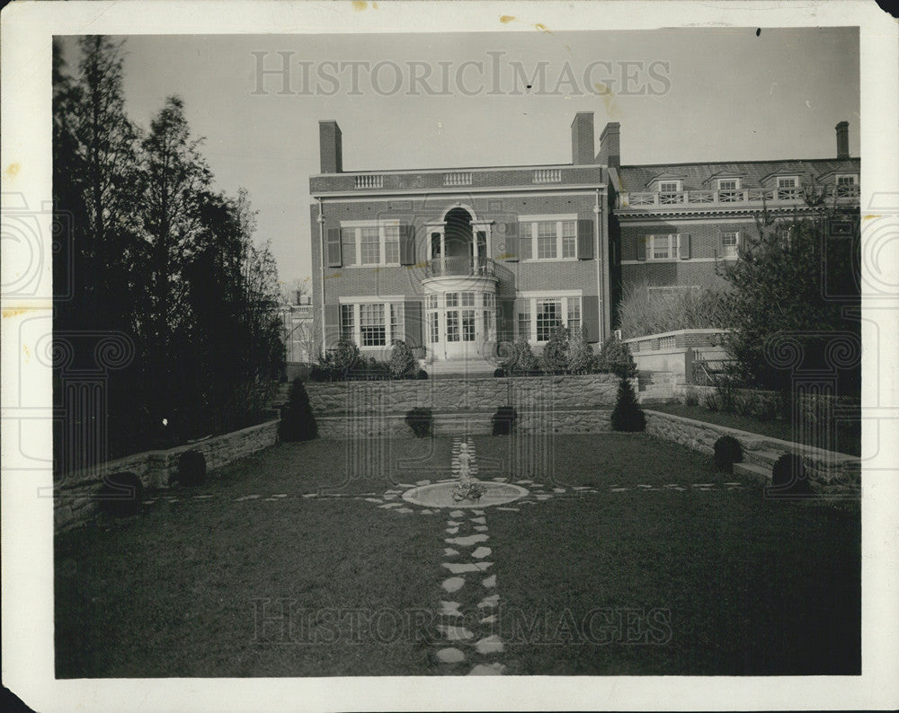 1924 Press Photo Woodrow Wilson Home - Historic Images