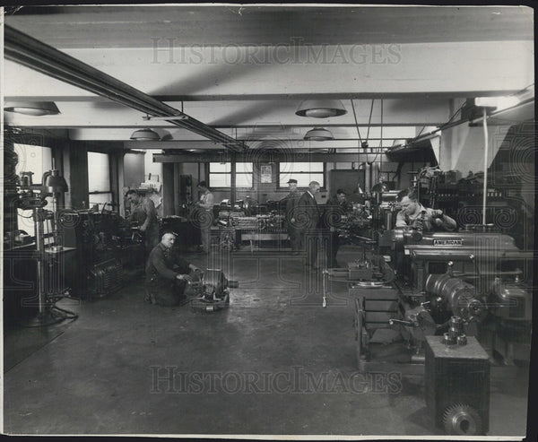 1931 Press Photo Machine Shop - Historic Images