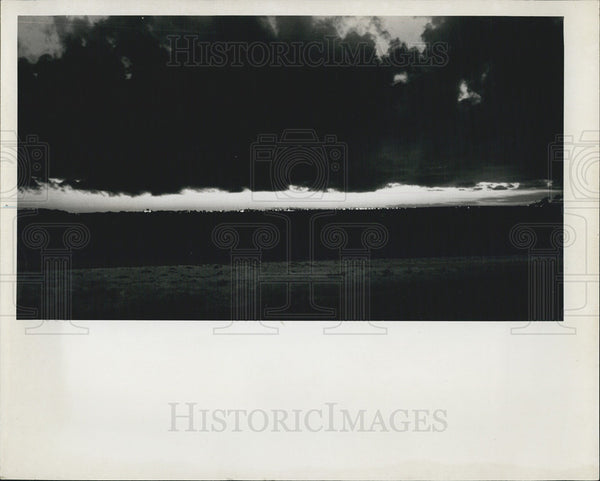 Press Photo Storm Clouds, Boca Ciege Bay, Bayway - Historic Images