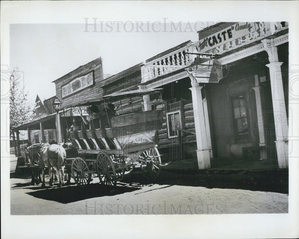1964 Press Photo Horse-Drawn Coach Virginia City Main Street Montana - Historic Images