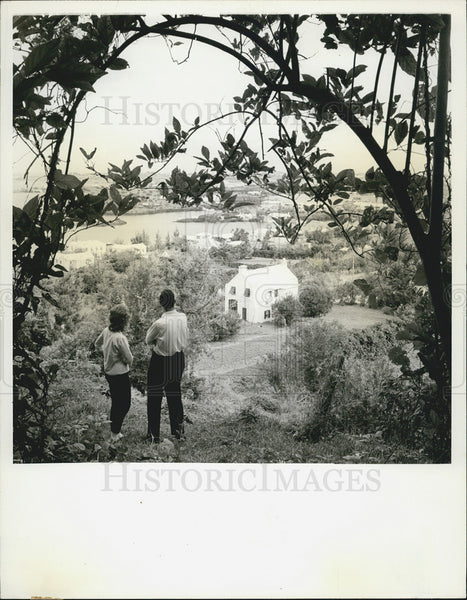 1965 Press Photo Bermuda Britain's loveliest island colony tribe road - Historic Images