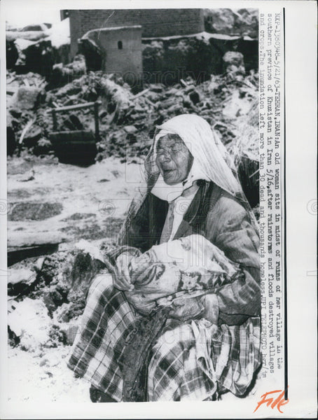1963 Press Photo Tehran, Iran Hit By Rainstorms and Floods - Historic Images