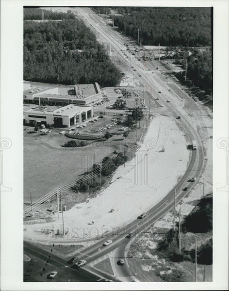 1992 Press Photo Road Construction On U.S. 19 In St. Petersburg Florida - Historic Images