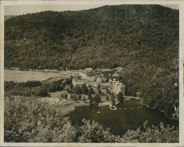 Press Photo Balsams On Lake Gloriette Dixville Notch New Hampshire Aerial View - Historic Images