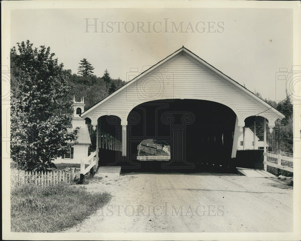 1965 Press Photo Covered Bridge in Stark, New Hampshire - Historic Images