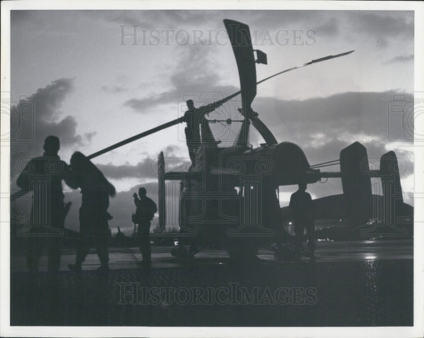 Press Photo Military equipment helicopter - Historic Images