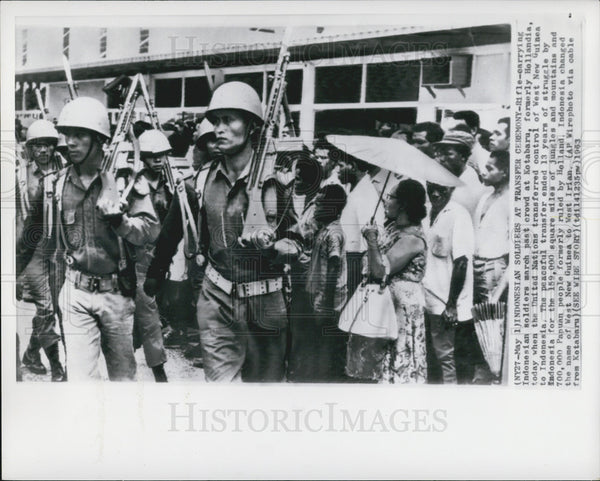 1963 Press Photo Indonesian Soldiers, Kotabaru - Historic Images