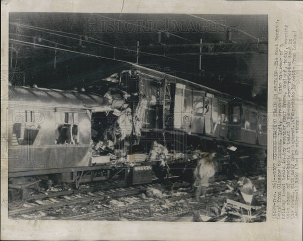 1962 Press Photo Scot Express Crashes Train In Britain - Historic Images