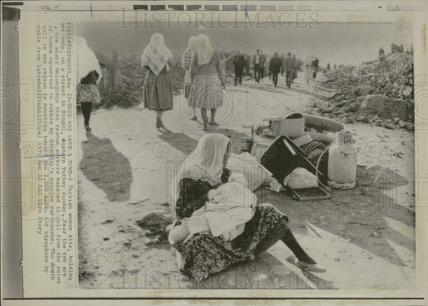 1971 Press Photo Town Destroyed By Earthquake In Turkey - Historic Images