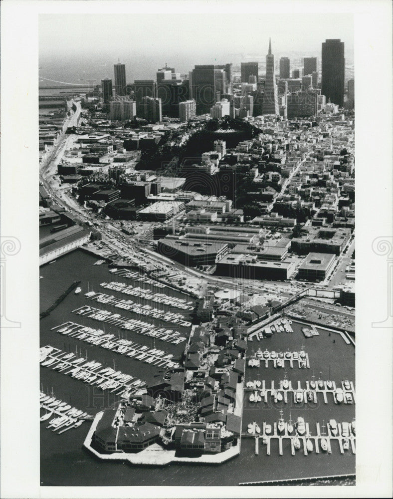 1934 Press Photo An aerial view of San Francisco's Pier 39. - Historic Images