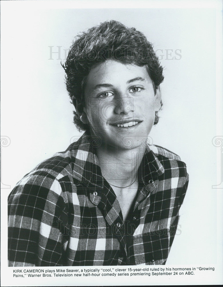 1986 Press Photo Kirk Cameron Actor Comedy Television Series Growing Pains  - Historic Images